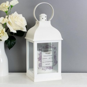 Personalised White Lantern - Soft Watercolour