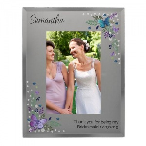 Personalised Glass 4x6 Photo Frame - Butterfly