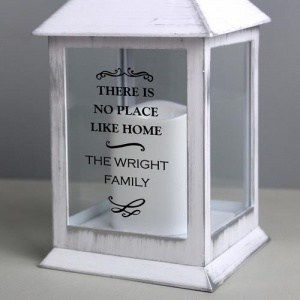 Personalised White Lantern - Antique Scroll