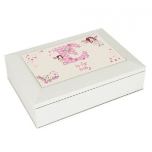 White Jewellery Box - Fairy Letter