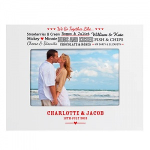 White Wooden Frame - Couples