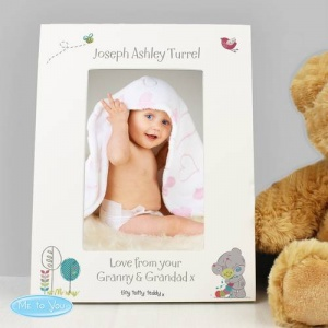 Personalised Tiny Tatty Teddy White 6x4 Frame - Cuddle Bug