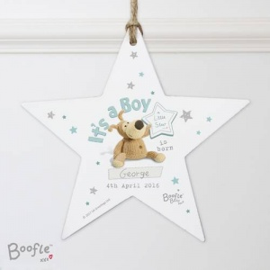 Personalised Boofle Wooden Star - Its a Boy