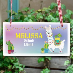 Personalised Wooden Sign - Llama