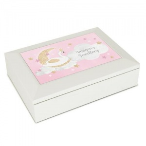 Personalised Jewellery Box - Swan Lake