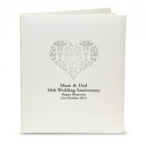 Traditional Album - Silver Damask Heart