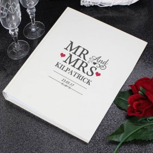 Personalised Album with Sleeves - Mr & Mrs