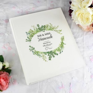 Personalised Traditional Photo Album - Fresh Botanical