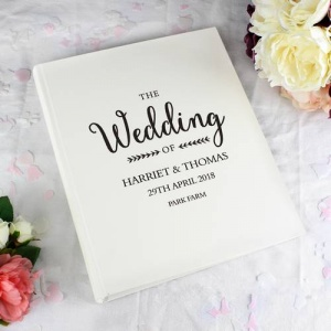 Personalised Traditional Photo Album - Rustic Wedding