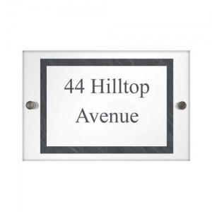 Personalised Acrylic House Sign - Slate Effect