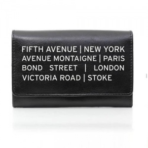 Personalised Black Leather Purse - Shopping Destination