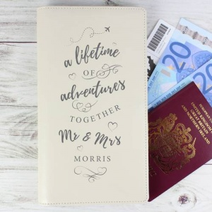 Personalised Leather Travel Document Holder - A Lifetime Of...