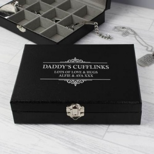 Personalised Cufflink Organiser Box