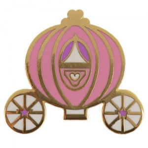 Enamel Pin Badge - Fairytale Princess Carriage