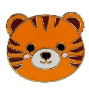 Enamel Pin Badge - Cute Tiger