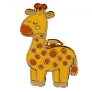 Enamel Pin Badge - Giraffe