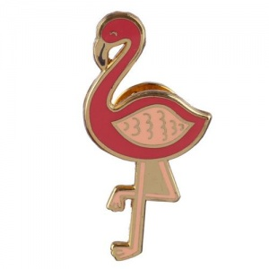 Enamel Pin Badge - Flamingo