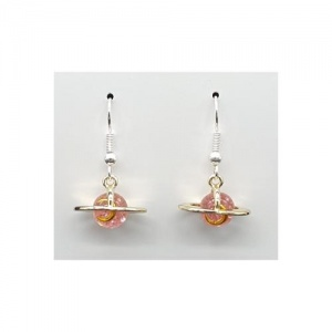 Pink Planet Earrings