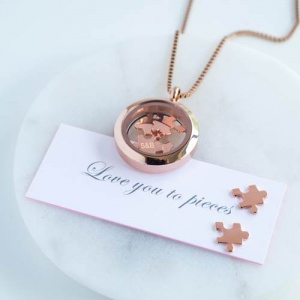 Rose Gold Necklace - 'Love You To Pieces'