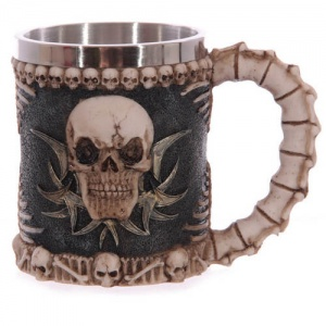 Skull  & Spine Decorative Tankard