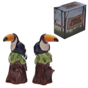 Toucan Ceramic Salt & Pepper Set
