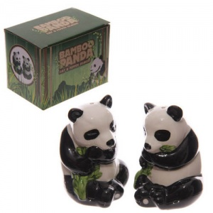 Cute Panda Ceramic Salt & Pepper Set