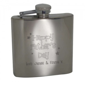 Painless Stainless Steel Hipflask - Happy Father's Day