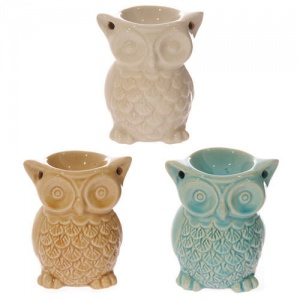 1 x Crackle Glaze Owl Oil Burner