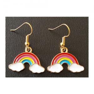 Enamelled Rainbow Earrings
