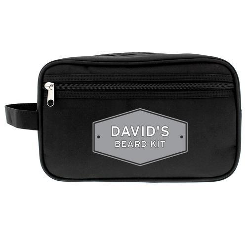 6d3d687bbfc Personalised Black Wash Bag - Plaque - alyssasgifts.co.uk