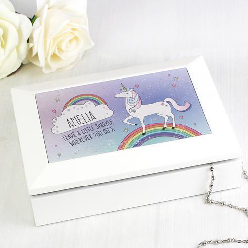 Personalised Jewellery Box Unicorn
