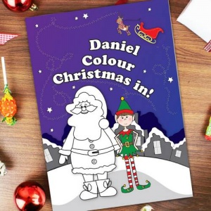 Personalised Colouring Book - 'It's Christmas' Elf