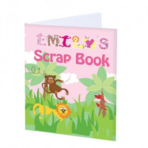 A4 Scrap Book, personalised cover - Girls Animal Alphabet