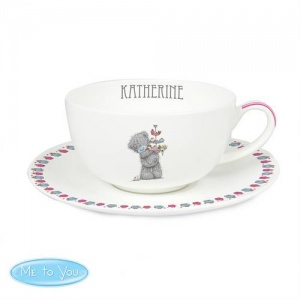 Personalised 'Tatty Teddy' Me To You Cupcake Teacup & Saucer