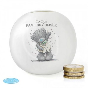 Personalised 'Tatty Teddy' Me To You Wedding Money Box - Boy