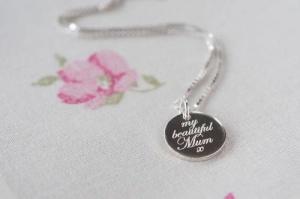 My Beautiful Mum Silver Necklace & Personalised Gift Box