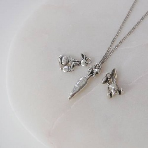 Silver Easter Necklace
