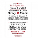 Personalised We Go Together Like.... Card