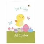 Personalised Card - Easter Meadow Chick