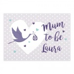 Personalised Card - Mum to Be Stork