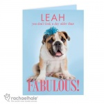 Personalised Rachael Hale Card - Fabulous Birthday