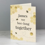 Personalised Card - We Bee-Long Together