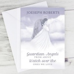 Personalised Memorial Card - Guardian Angel Wings