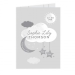 Personalised Card - New Baby Moon & Stars