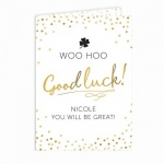 Personalised Card - Good Luck