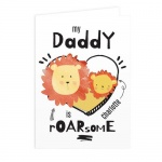 Personalised Card - My Daddy is Roarsome