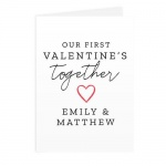 Personalised Card - Our 1st Valentine's Day