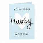 Personalised Card - My Handsome Hubby