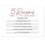 Personalised Card - 5 Reasons Why