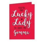 Personalised Card - You're One Lucky Lady